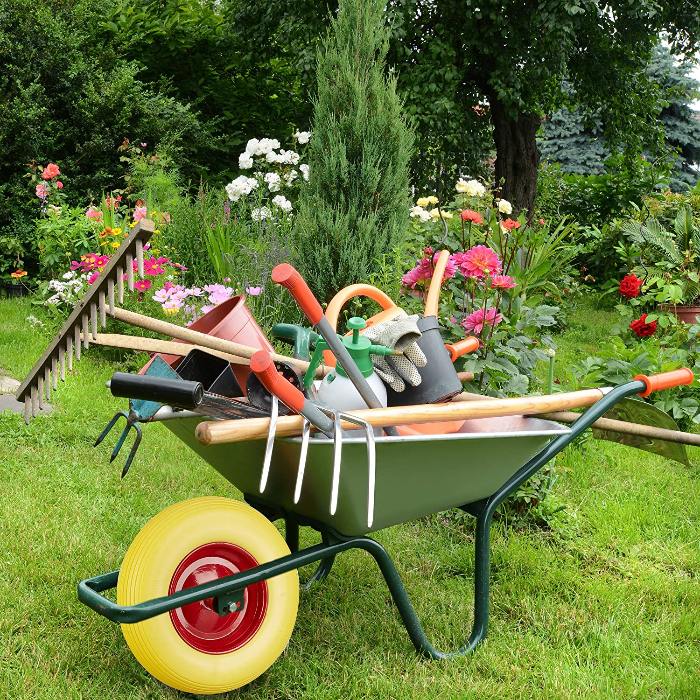 Vollgummireifen und Stahlfelge Relaxdays 2 x Schubkarrenrad 4.80 4.00-8 schwarz-rot 100kg Traglast Ersatzrad pannensicher