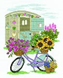 "DMC ""Flowery Bicycle"" 14 Count Cross Stitch Kit, Pack of 1, Multi Colour"