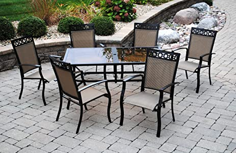 Outdoor Innovations Westbury 7 Piece Aluminum Dining Set