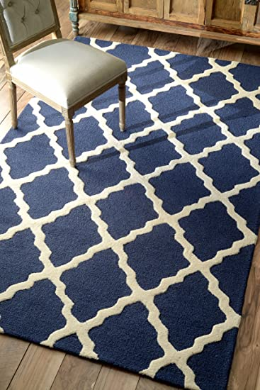 nuloom varanas collection marrakech trellis hand made area rug 7 feet 6 inches - Nuloom