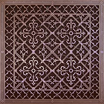 Decorative Wall Vent Covers reggio metal floor furnace grategrille scroll design 824 1992 Decorative Grille Vent Cover Or Return Register Made Of Urethane Resin To Fit