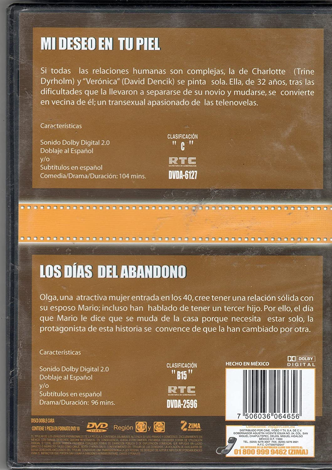 Amazon.com: Mi Deseo En Tu Piel & Los Dias Del Abandono [Ntsc/region 1 and 4 Dvd. Import - Latin America].: Movies & TV