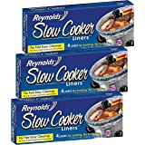 """Reynolds Metals Slow Cooker Liners 13""""X21"""" - 3 Pack (12 Liners Total)"""