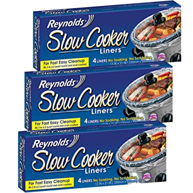 Reynolds Metals Slow Cooker Liners 13 X21  - 3 Pack (12 Liners Total)