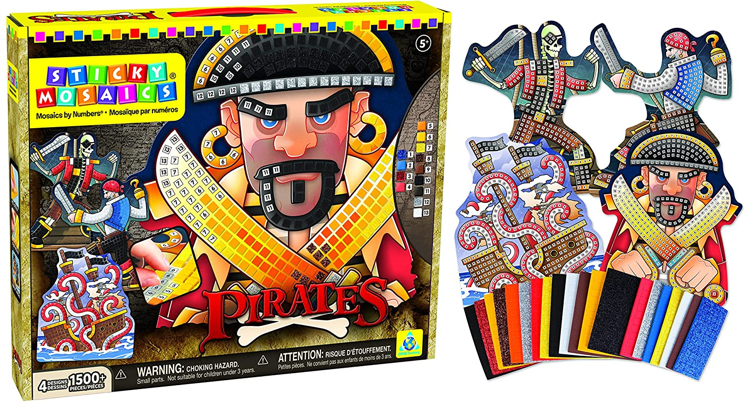 The Orb Factory Sticky Mosaics Pirates Kit Getting Fit 72391