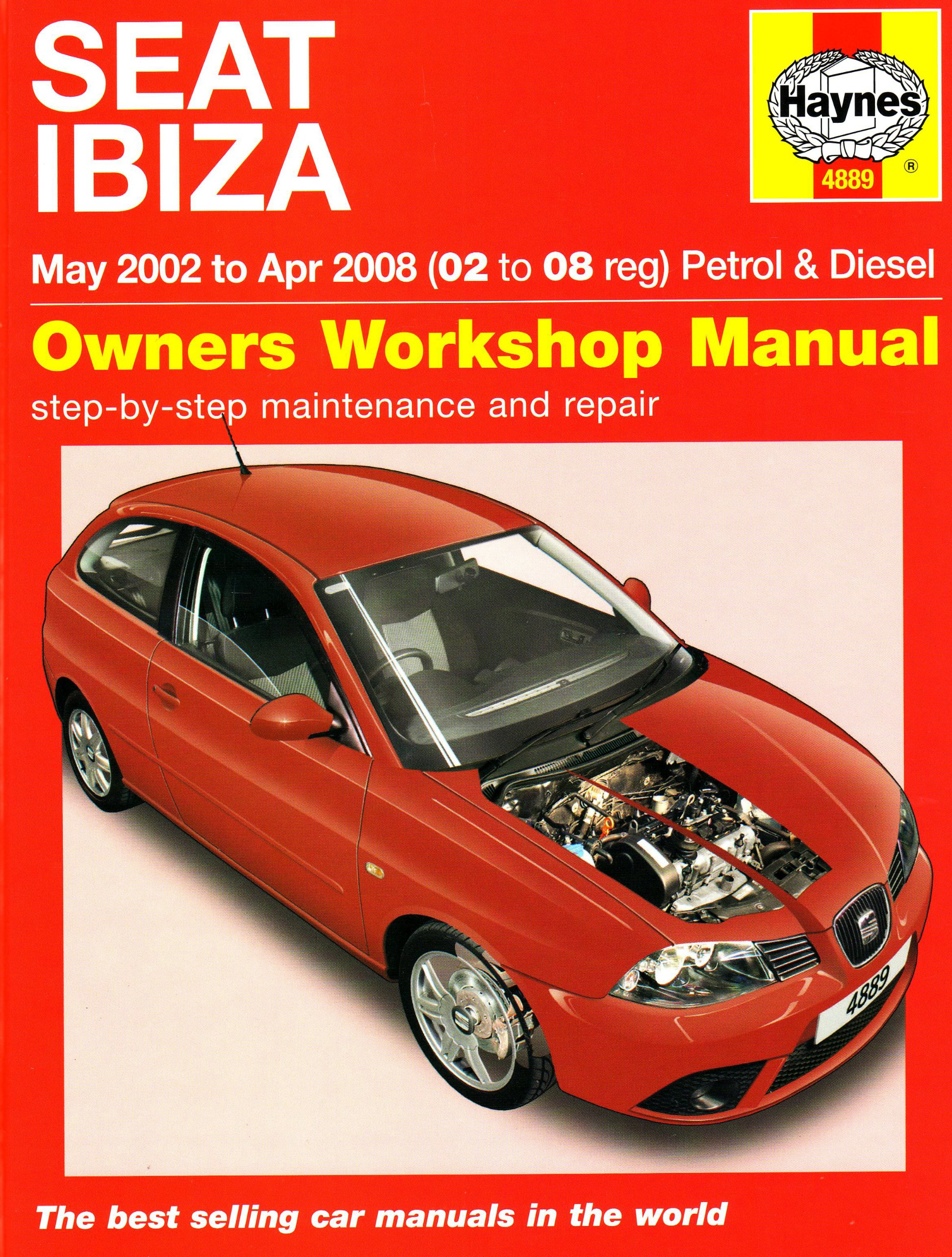 Seat Ibiza Petrol and Diesel: 02 to 08 (Haynes Service and Repair Manuals):  Amazon.co.uk: Martynn Randall: 5069827846166: Books