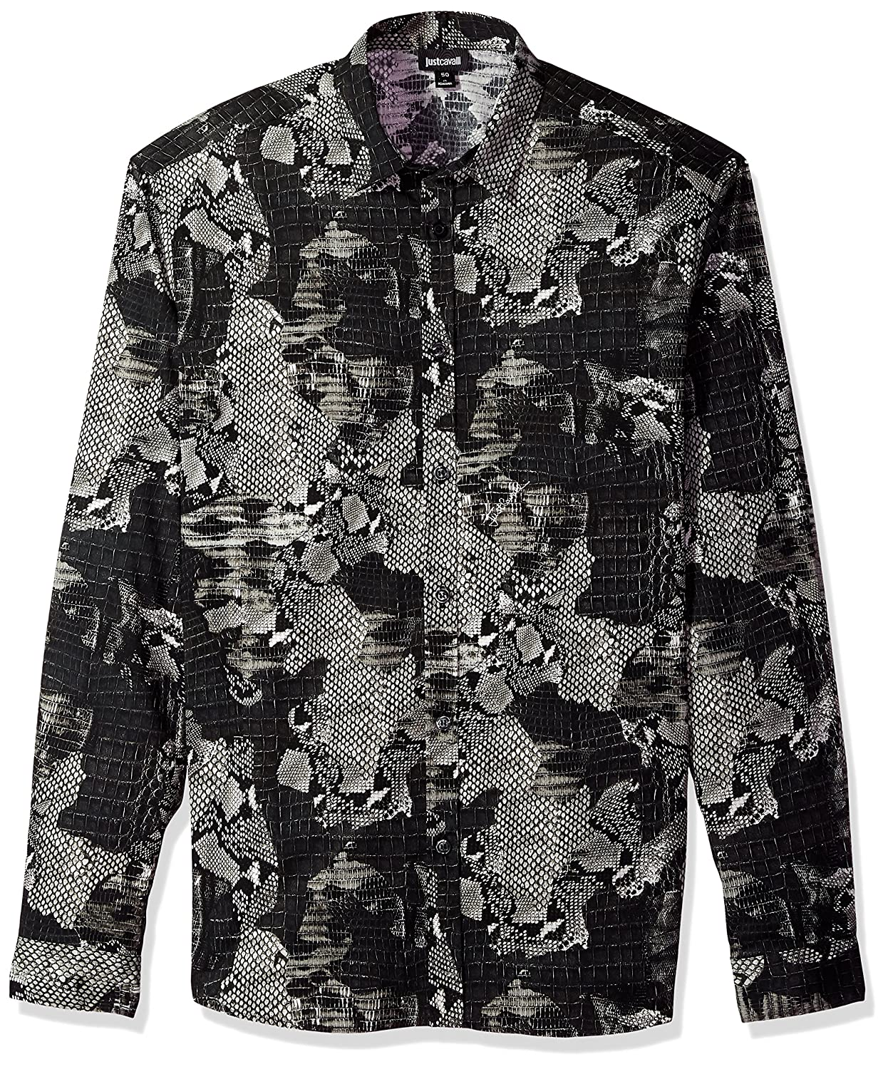 Black Variant 46 Just Cavalli Mens S01DL0161N38945900S Mens Blazer Long Sleeve Shirt  Black