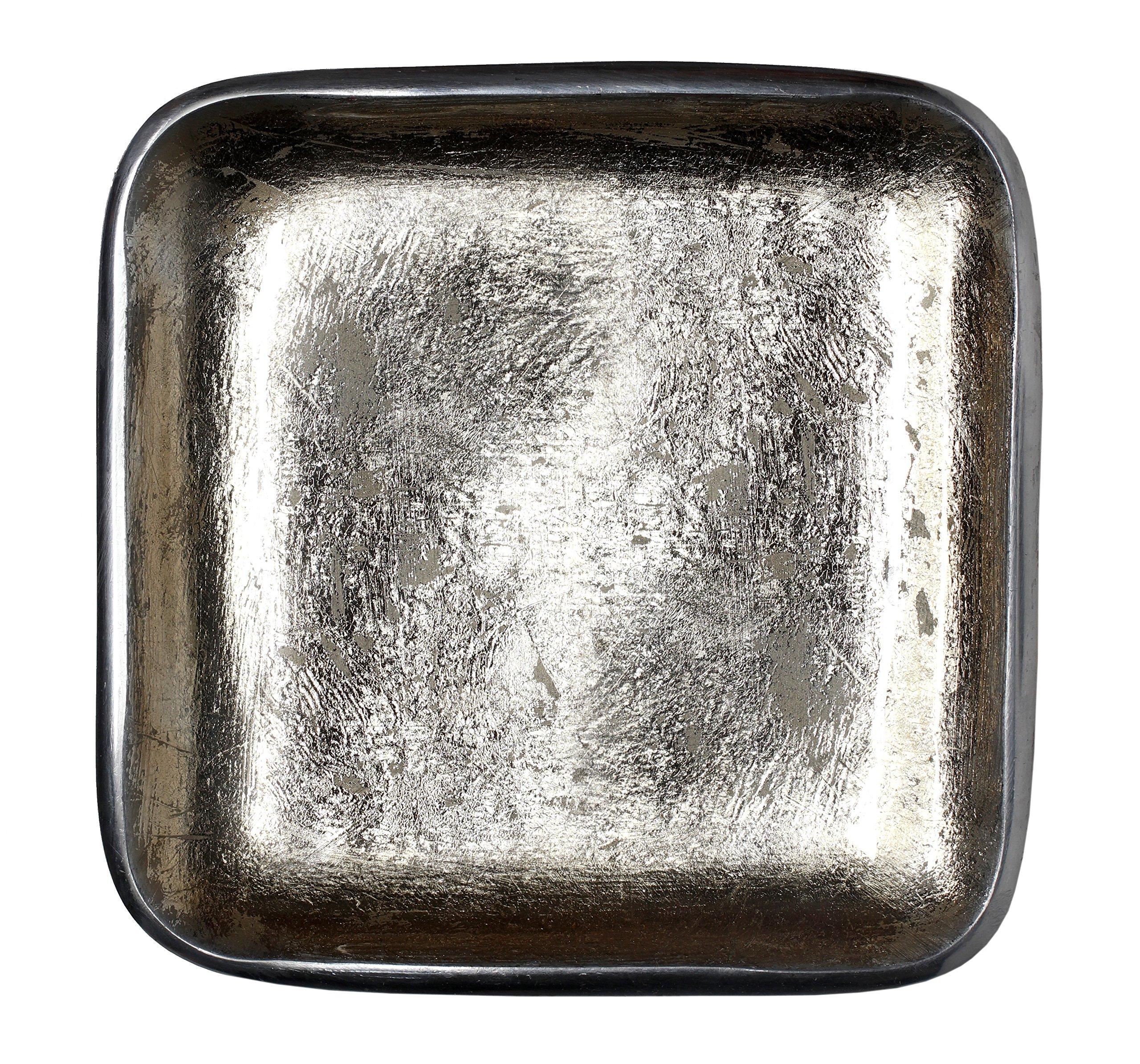 Melange Home Decor Square Tray Platter 8.25-inch Bowl, Color - Beige, Pack of 6