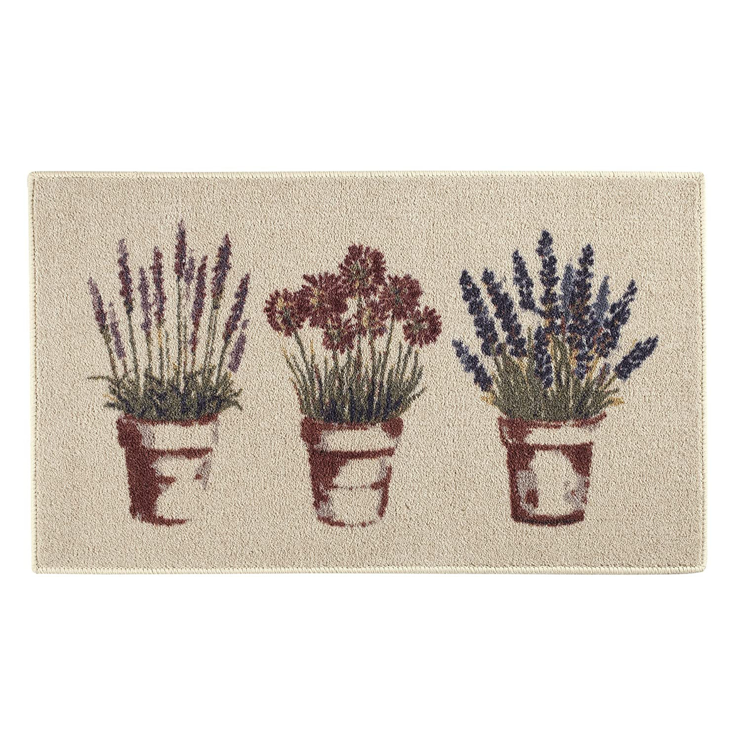 """""""Flagship Carpets Spring Flower and Plant Door Mat or Entryway and Kitchen Area Rug, 20""""""""x34"""""""", Rectangle"""", tan (CN631-20x34BH)"""