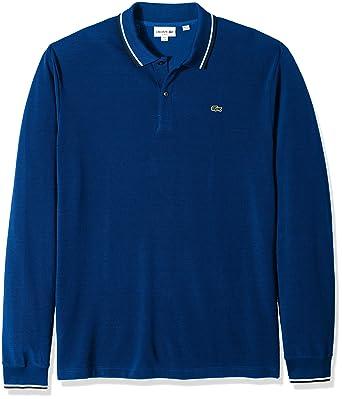 3065ed95a9f7 Lacoste Men s Long Sleeve Semi Fancy Slim Fit Pique Caviar Polo at ...