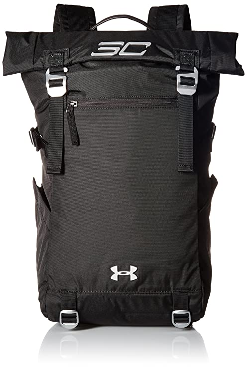 635ba8f7013 Amazon.com: Under Armour SC30 Signature Rolltop Backpack,Black  (001)/Silver, One Size: Sports & Outdoors