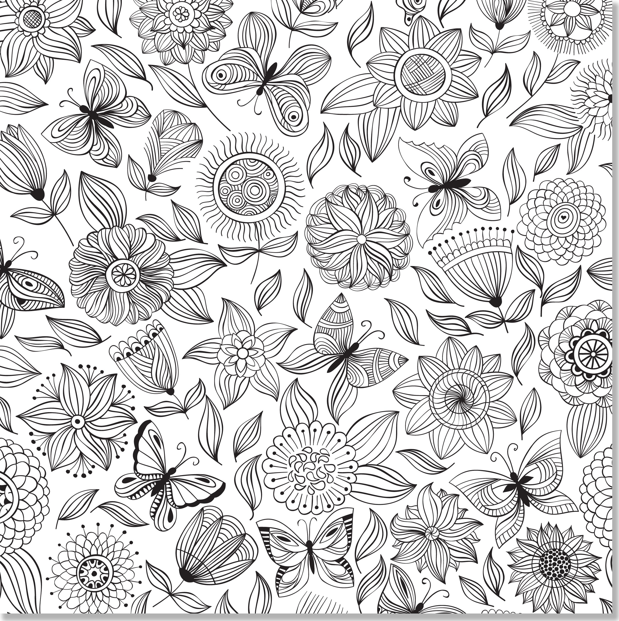 Amazon Floral Designs Adult Coloring Book 31 Stress Relieving Studio 9781441317452 Peter Pauper Press Books