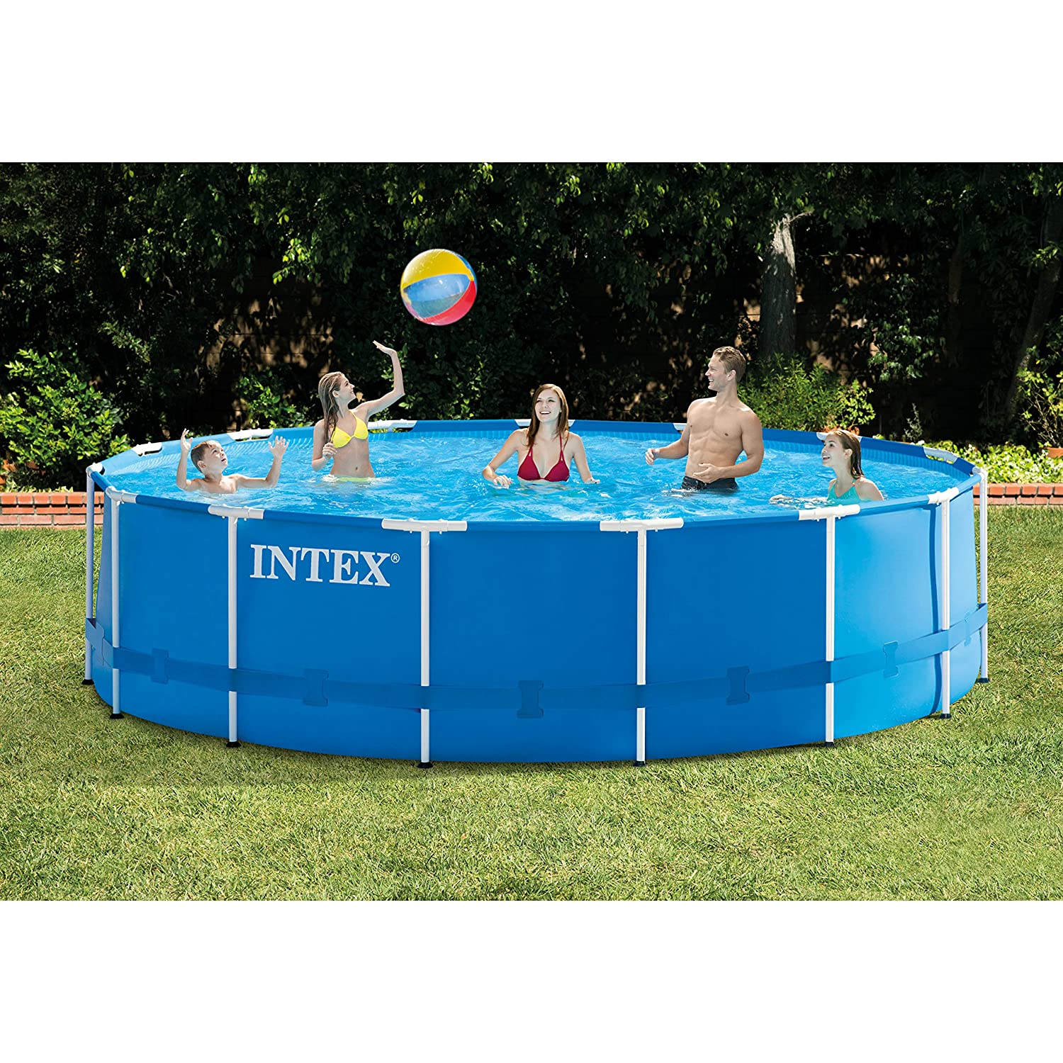 Intex 18ft X 48in Metal Frame Pool Set