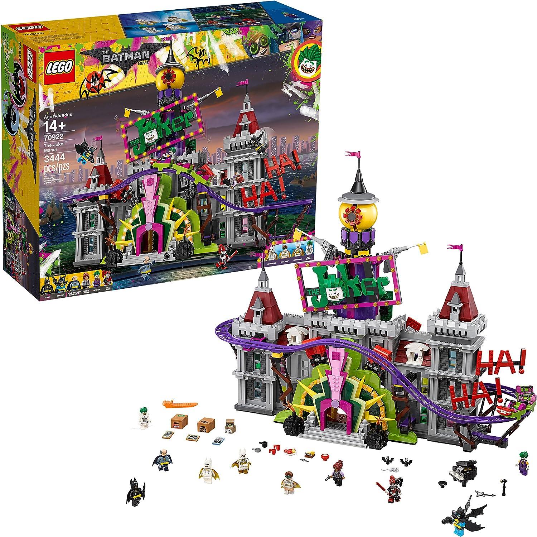 Amazon Com Lego Batman Movie Dc The Joker Manor 70922 Building Kit 3444 Piece Toys Games