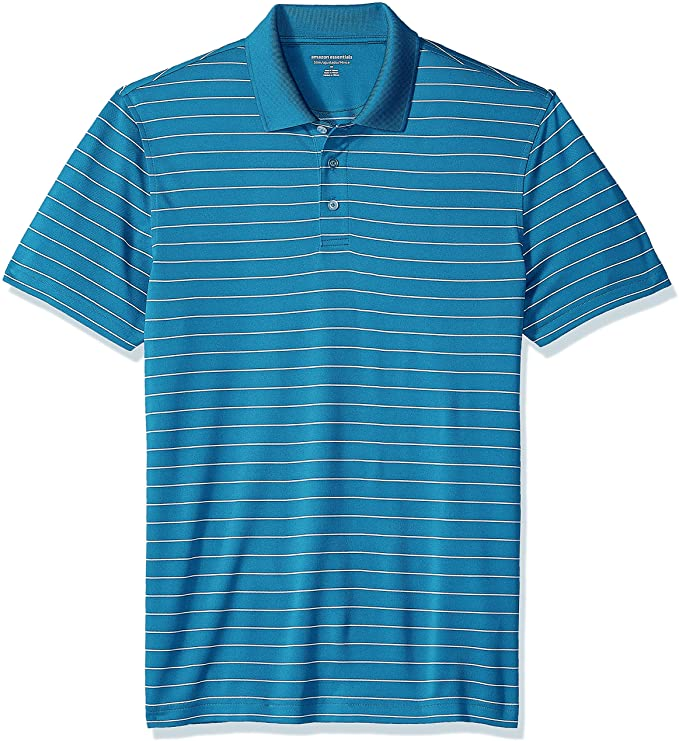 Amazon Essentials Men's Slim-Fit Quick-Dry Golf Polo Shirt best men's golf shirt