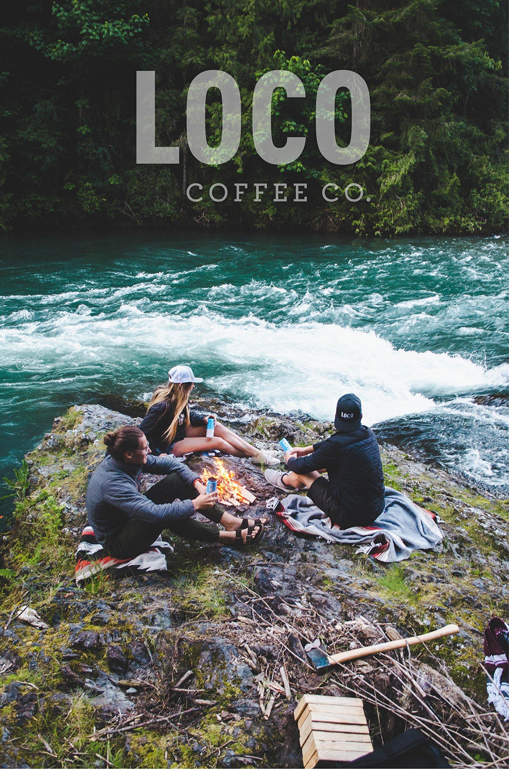 Loco Coffee (12 12 fl. oz. cans)   Cold Brew Coffee + Coconut Water   No Preservatives   No Added Sugar   Caffeine + Electrolytes