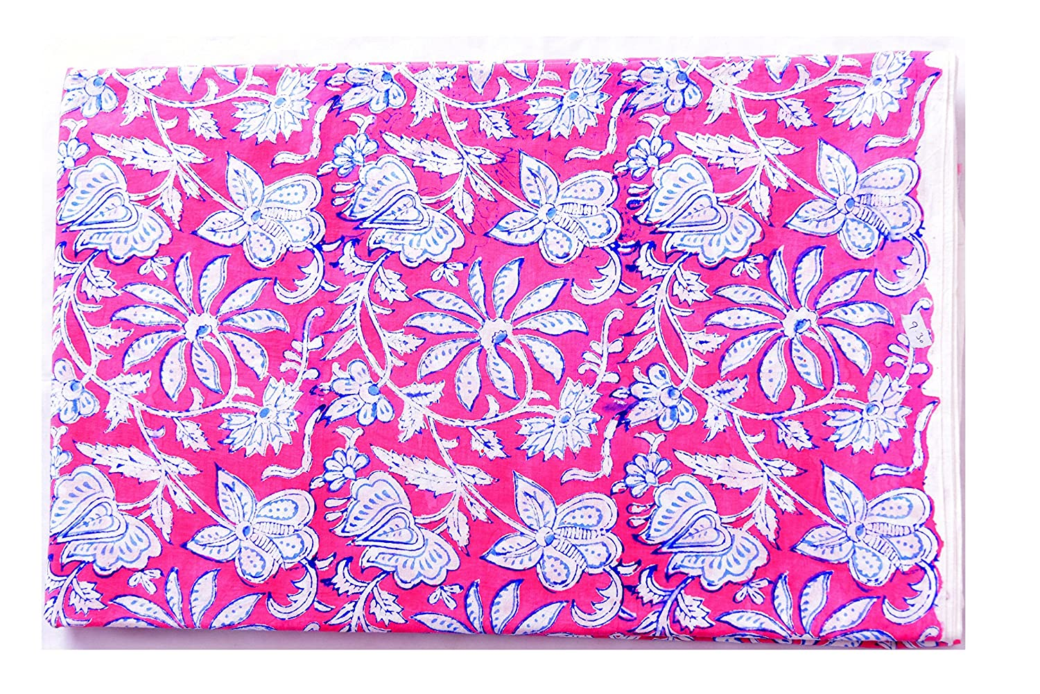 """Craft Material Hand Block Print 44/"""" Wide Cotton Voile Fabric Sewing By 1 Metre"""