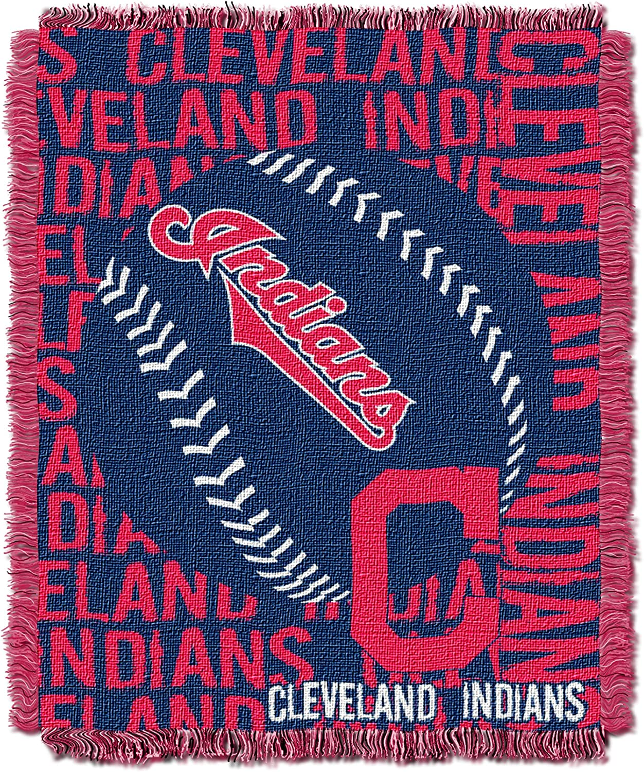 Soft /& Cozy Washable Throws /& Bedding 46 x 60 Officially Licensed MLB Double Play Jacquard Throw Blanket