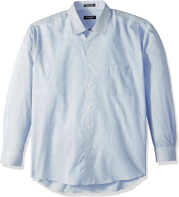 Pierre Cardin Camisa de Vestir con Cuello semiextendido a Cuadros o Cuadros para Hombre - Azul - 41 cm- 42 cm Cuello 81 cm- 84 cm Manga: Amazon.es: Ropa y accesorios