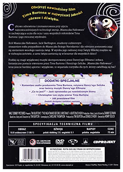 Amazoncom The Nightmare Before Christmas Dvd English