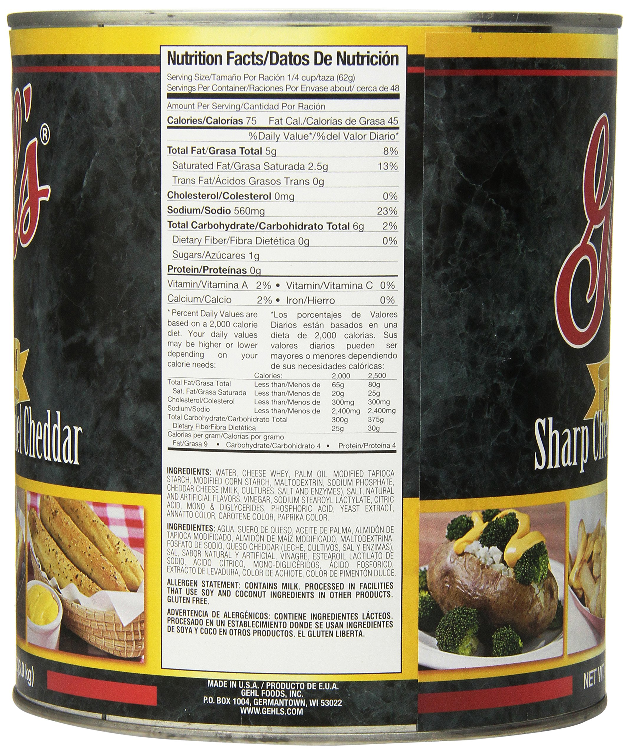 Gehl's Premium Sharp Cheddar Cheese Sauce, 106 Ounce by Gehl's (Image #1)