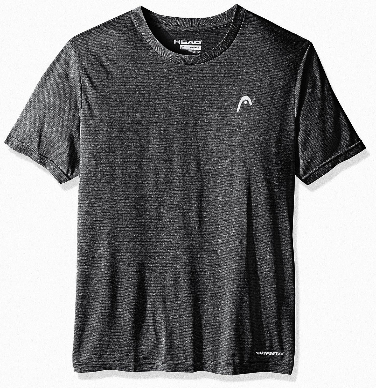 HEAD Mens Olympus Striped Hypertek Gym Training /& Workout T-Shirt Short Sleeve Activewear Top