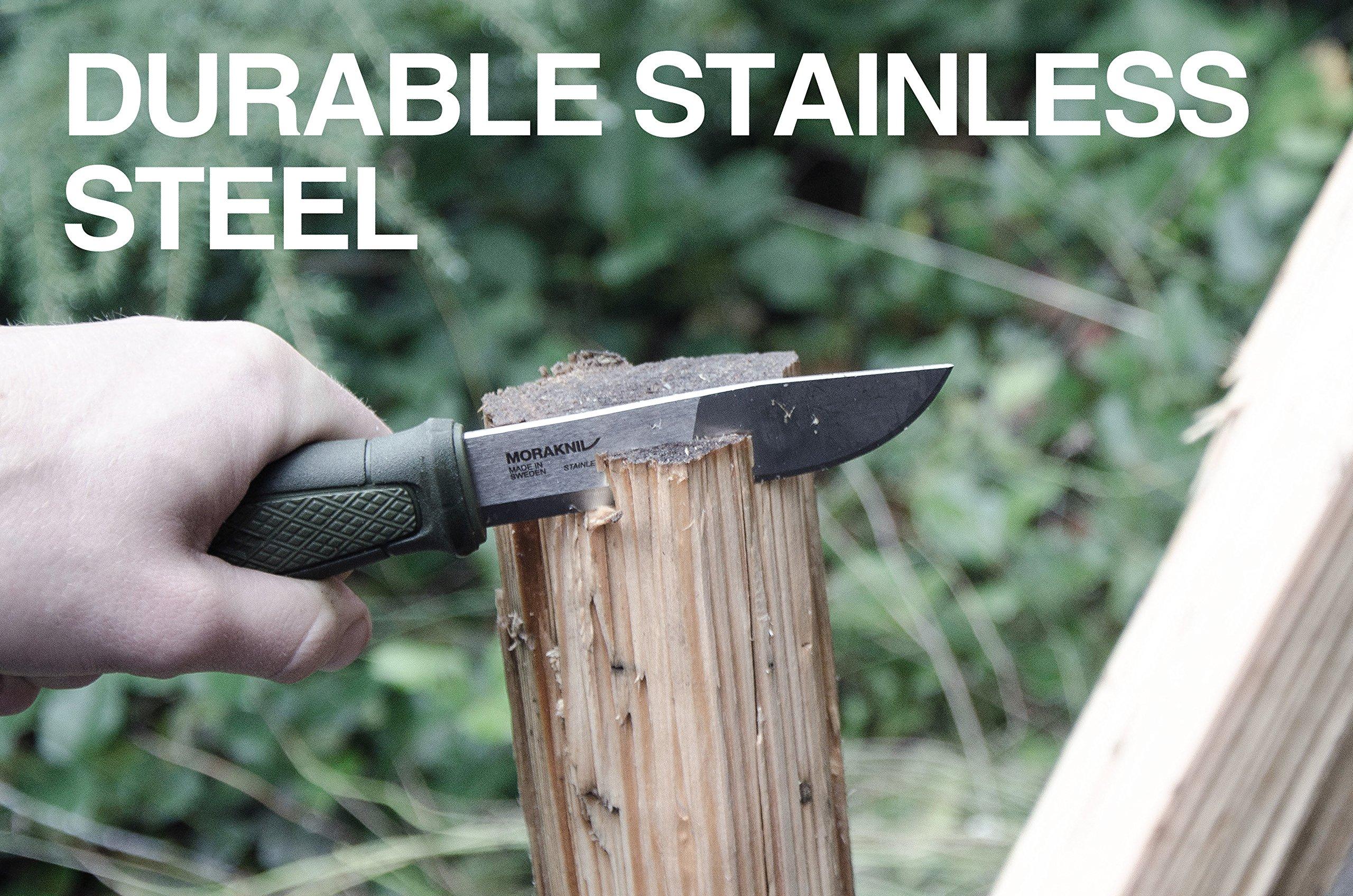Morakniv Kansbol Fixed Blade Knife with Sandvik Stainless Steel Blade and Plastic Sheath, 4.3-Inch by Morakniv (Image #5)