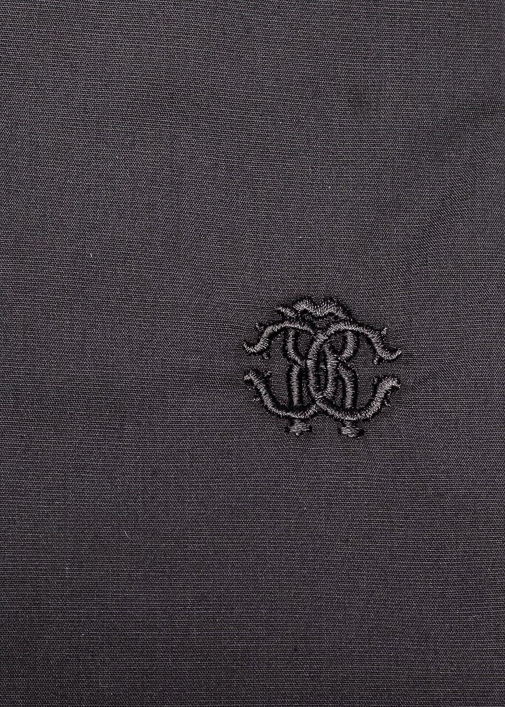 Roberto Cavalli Mens Point Collar Cotton Dress Shirt Black