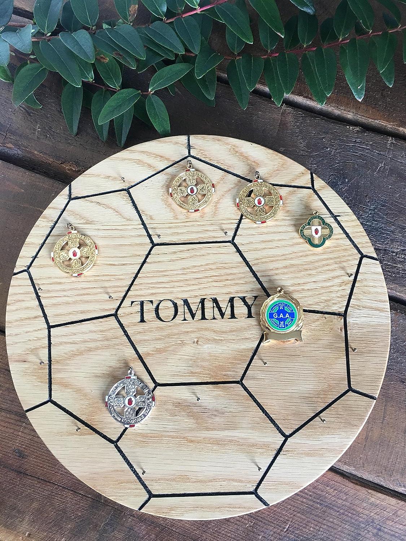 Balón de fútbol medalla Display- personalizado de roble macizo ...