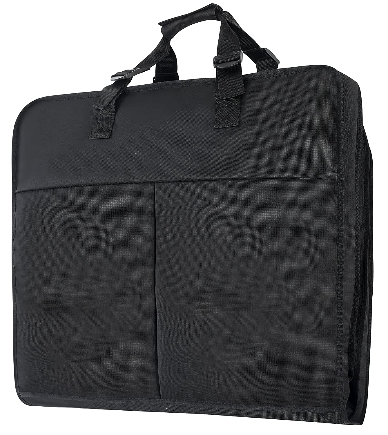 Magictodoor 40 Inch Garment Bag Extra Capacity Garment Bag with Pockets w/Hanging Hook Garment Bag Black