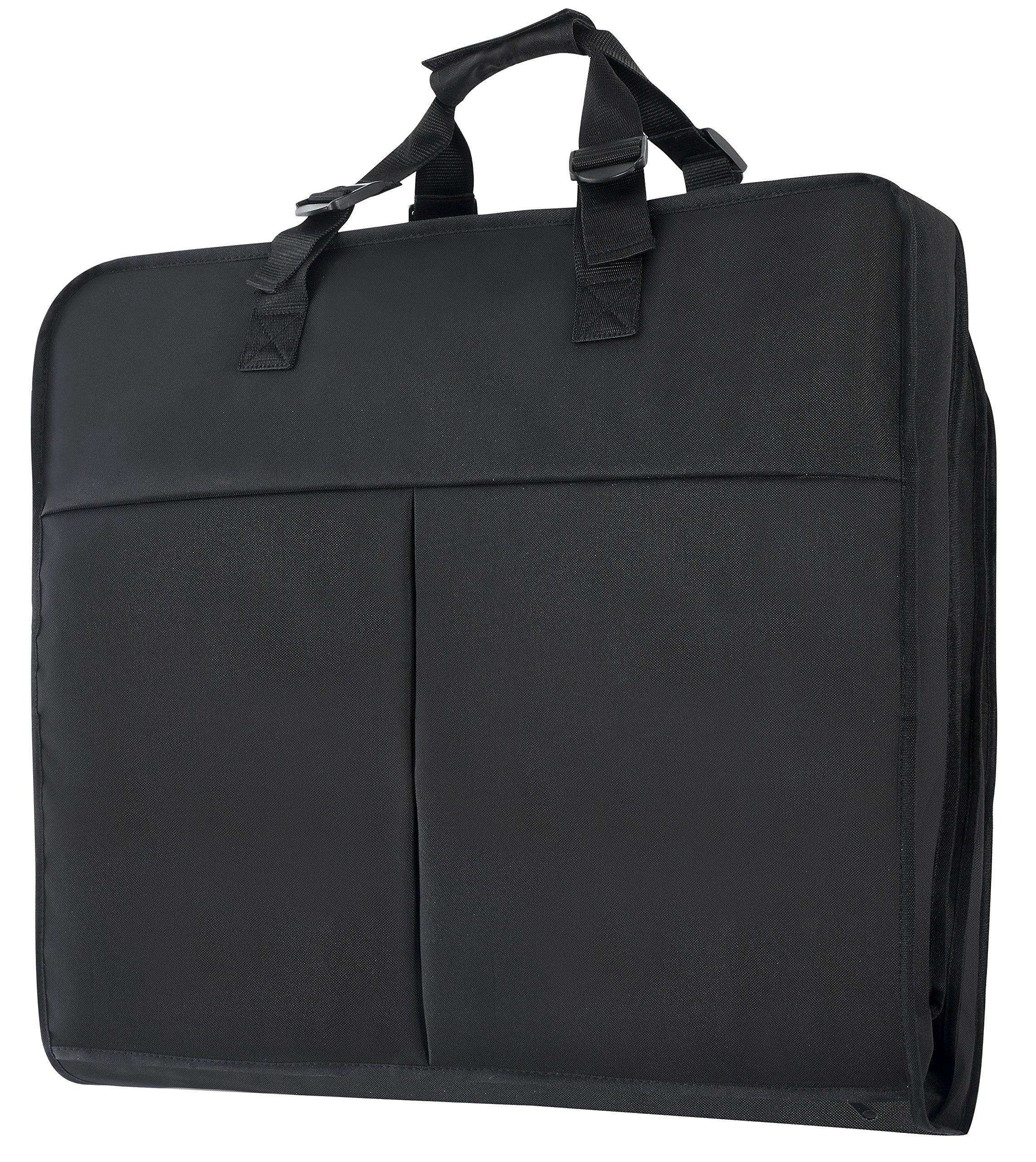 Magictodoor 40 Inch Garment Bag Extra Capacity Garment Bag with Pockets w/Hanging Hook by Magictodoor