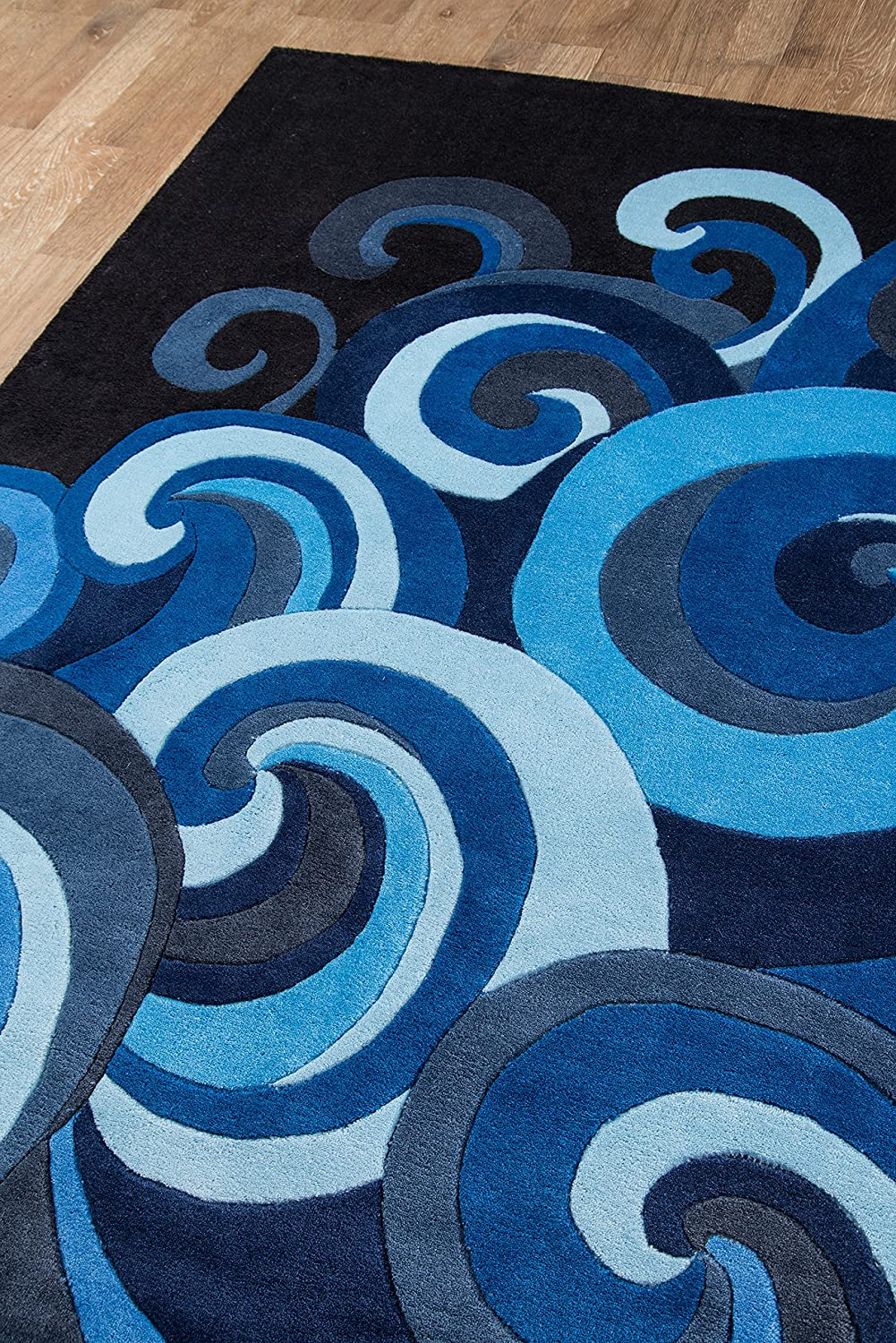 Surf Blue 2 X 3 2 X 3 Momeni Rugs Lmotwlmt 1sur2030 Lil Mo Hipster Collection Kids Themed Hand Carved Tufted Area Rug Area Rugs Home Kitchen