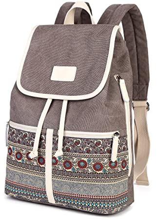 ArcEnCiel Women Girl Backpack Canvas Rucksack Shoulder Bag