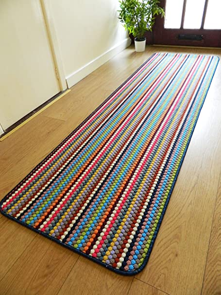 rugs superstore new multi coloured modern washable non slip kitchen rh amazon co uk Machine- Washable Kitchen Rugs Decorative Kitchen Rugs