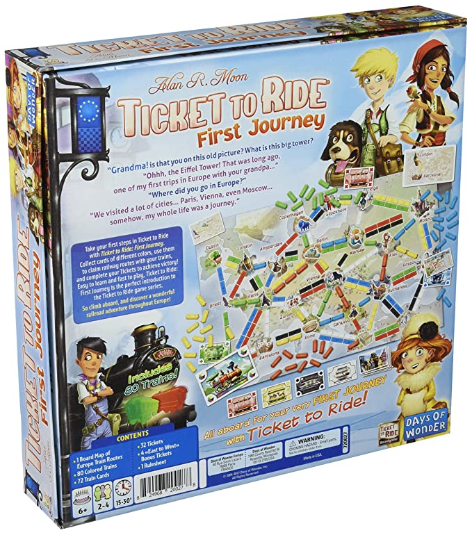 Amazon Com Ticket To Ride Europe First Journey Toys Games