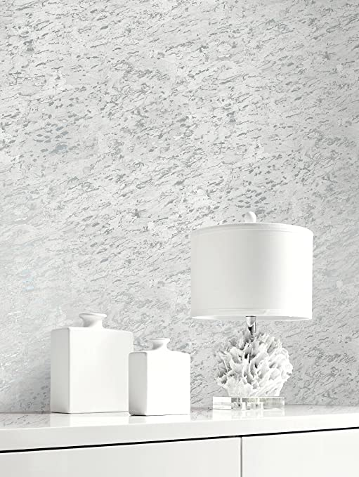 Metallic Cork Inspired Textured Wallpaper Grey Silver
