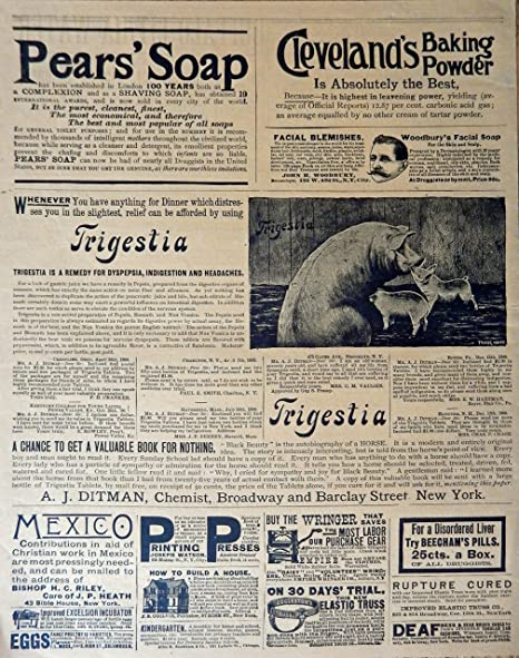 Pears Soap Old B/&W Newspaper advert Wall art. poster Reproduction poster