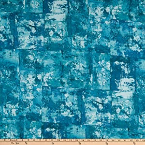 Robert Kaufman Kaufman Warehouse District Lawns Fabric, Aquamarine