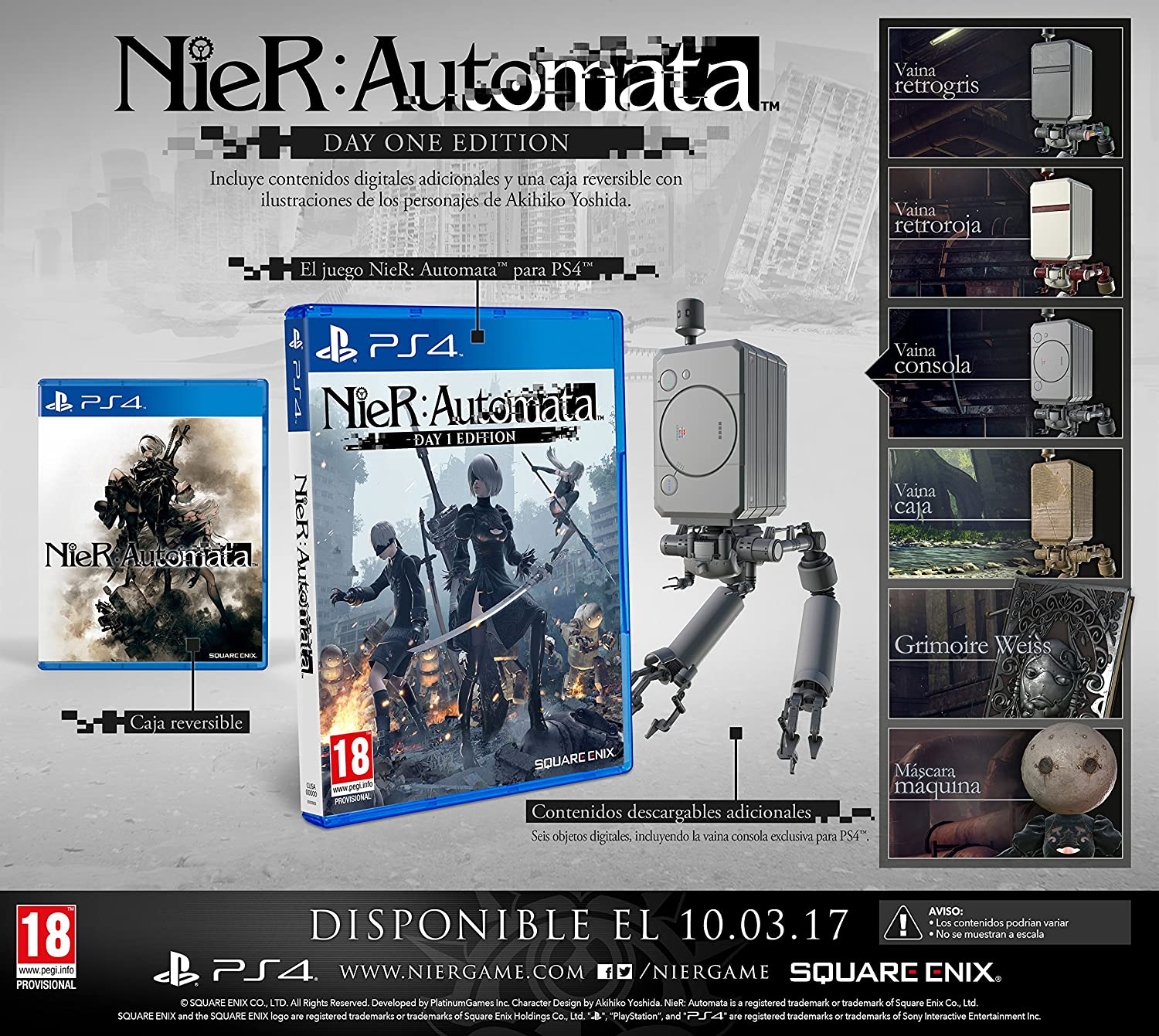 Nier Automata Day One Edition: playstation 4: Amazon.es ...