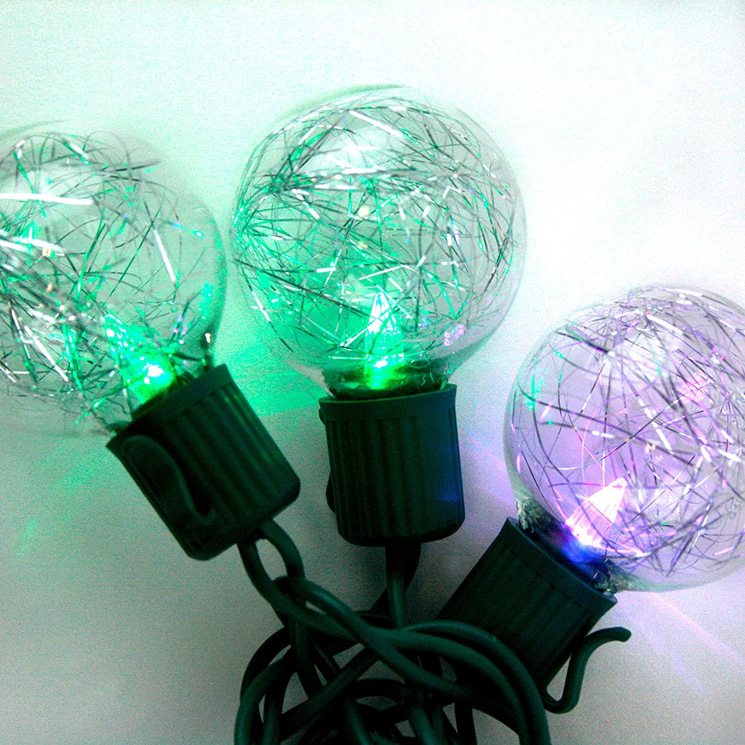 Amazon.com: 10 Color Changing Globe String Lights, 13 Feet, G40 ...