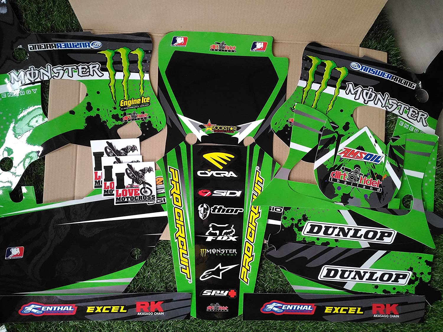 Amazon.com: 7067 KAWASAKI KX 125-250 1994-1998 DECALS ...