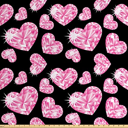 1 Yard Brand New Flower//Heart Print Fabric