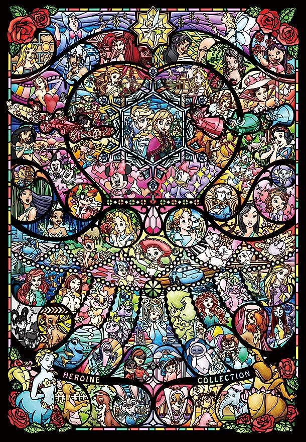 "Disney 1000 Pieces Jigsaw Puzzle Disney All Star Stained Art Glass 20/""×29/"" Tenyo"