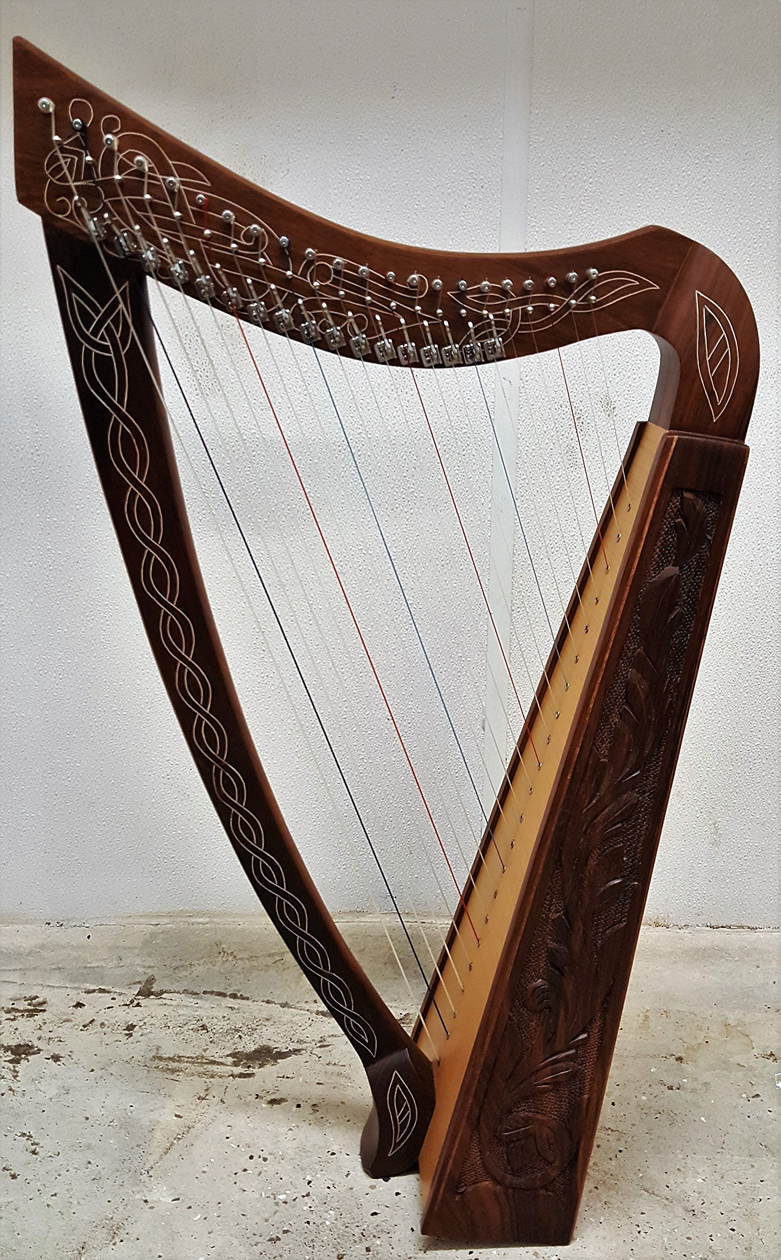 36 INCH 22 String Harp Celtic Irish Style Solid wood free Carrying Bag strings and Tuner
