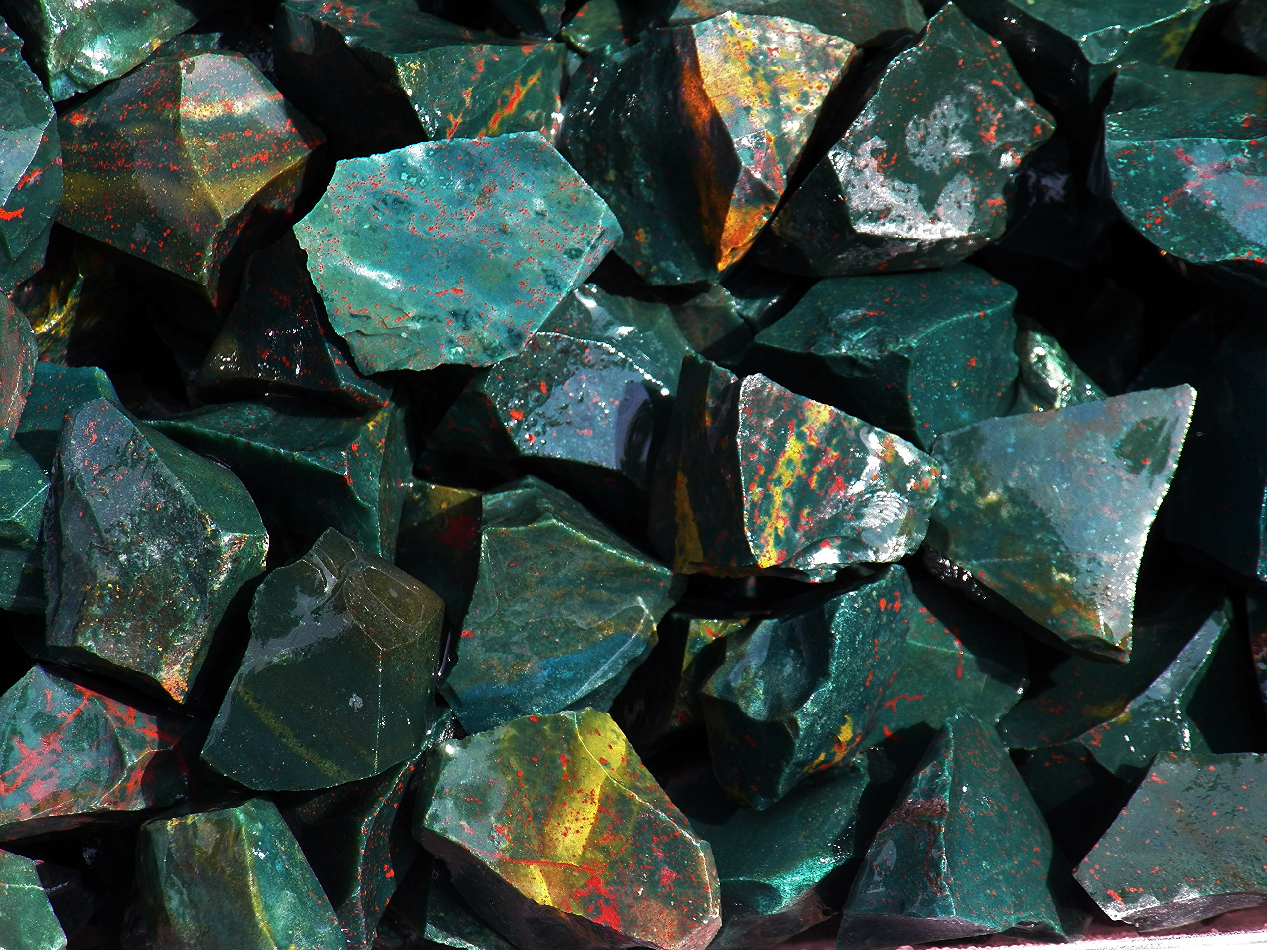 Fundamental Rockhound Products: Rough BLOODSTONE Natural Bulk Rock for Tumbling Metaphysical Gemstones Healing Crystals * Wholesale Lot * ... from India (2 lb)