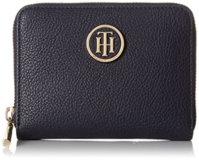 Tommy Hilfiger Th Core Compact Za Wallet, Portefeuilles femme, (Tommy Navy), 2,5x13x10 cm (B x H x T)