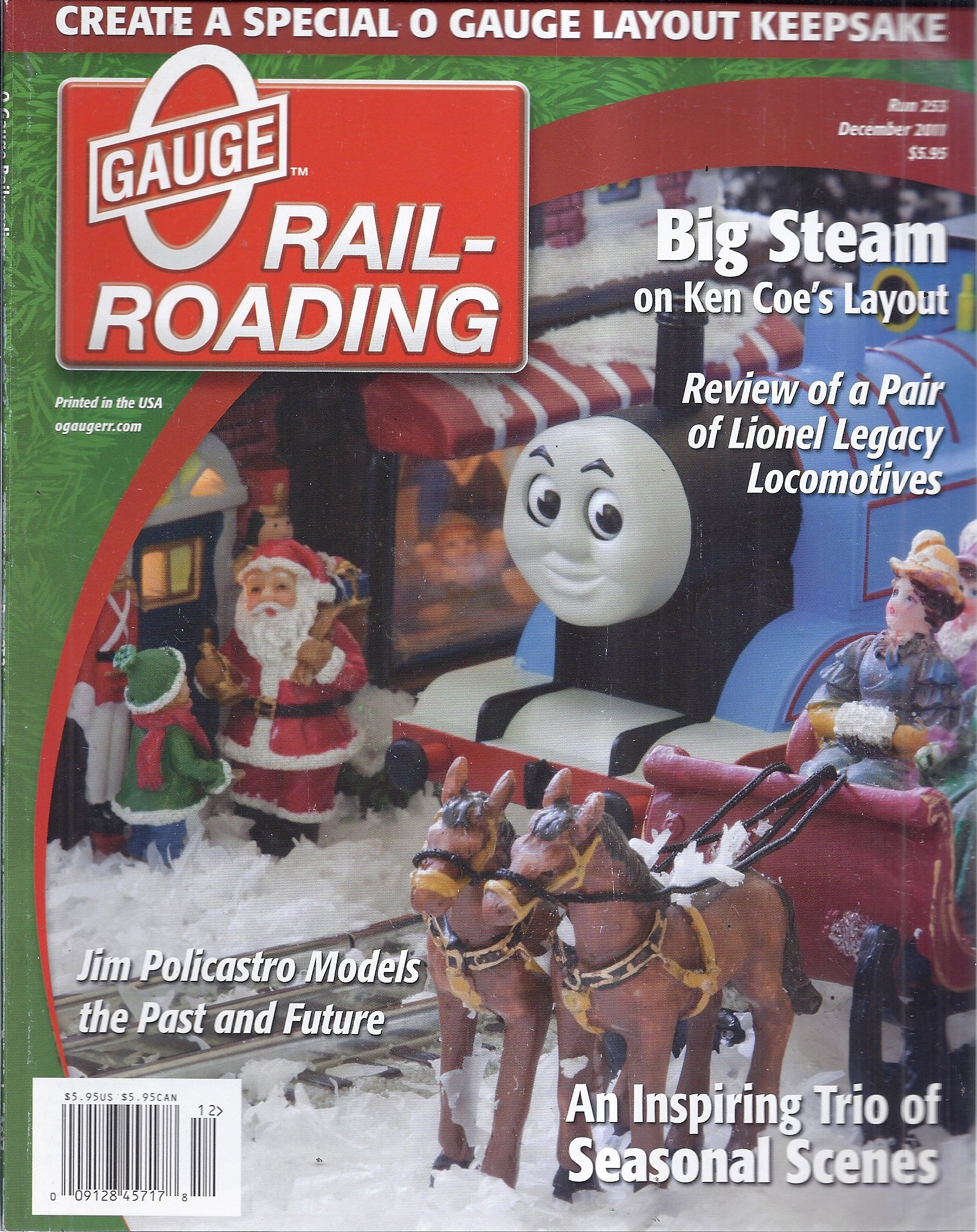 Read Online O Gauge Railroading Magazine (Run 253 - December 2011) pdf epub