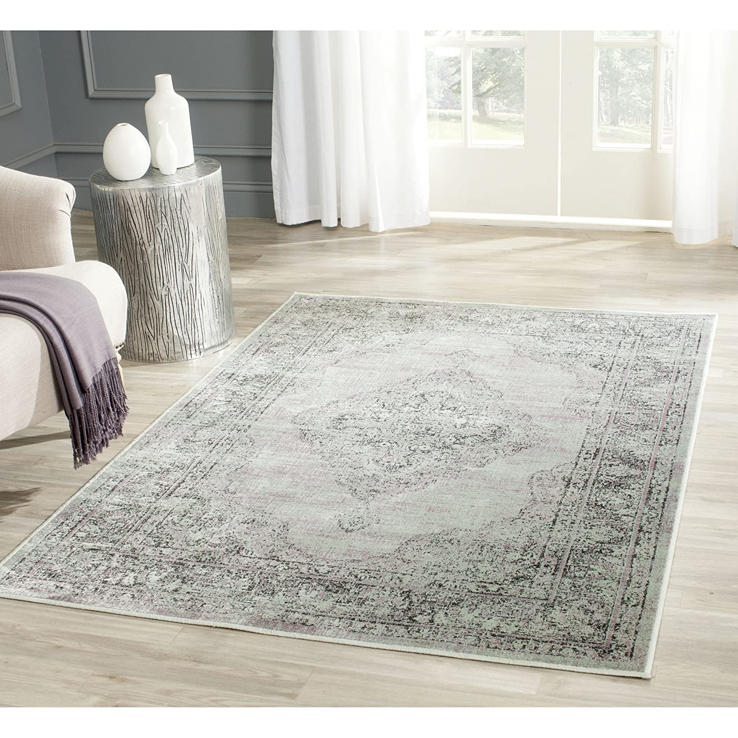 Safavieh Tabriz Floral Collection TF101A Hand Knotted Ivory and Red Wool Area Rug, 12-Feet by 18-Feet TF101A-1218