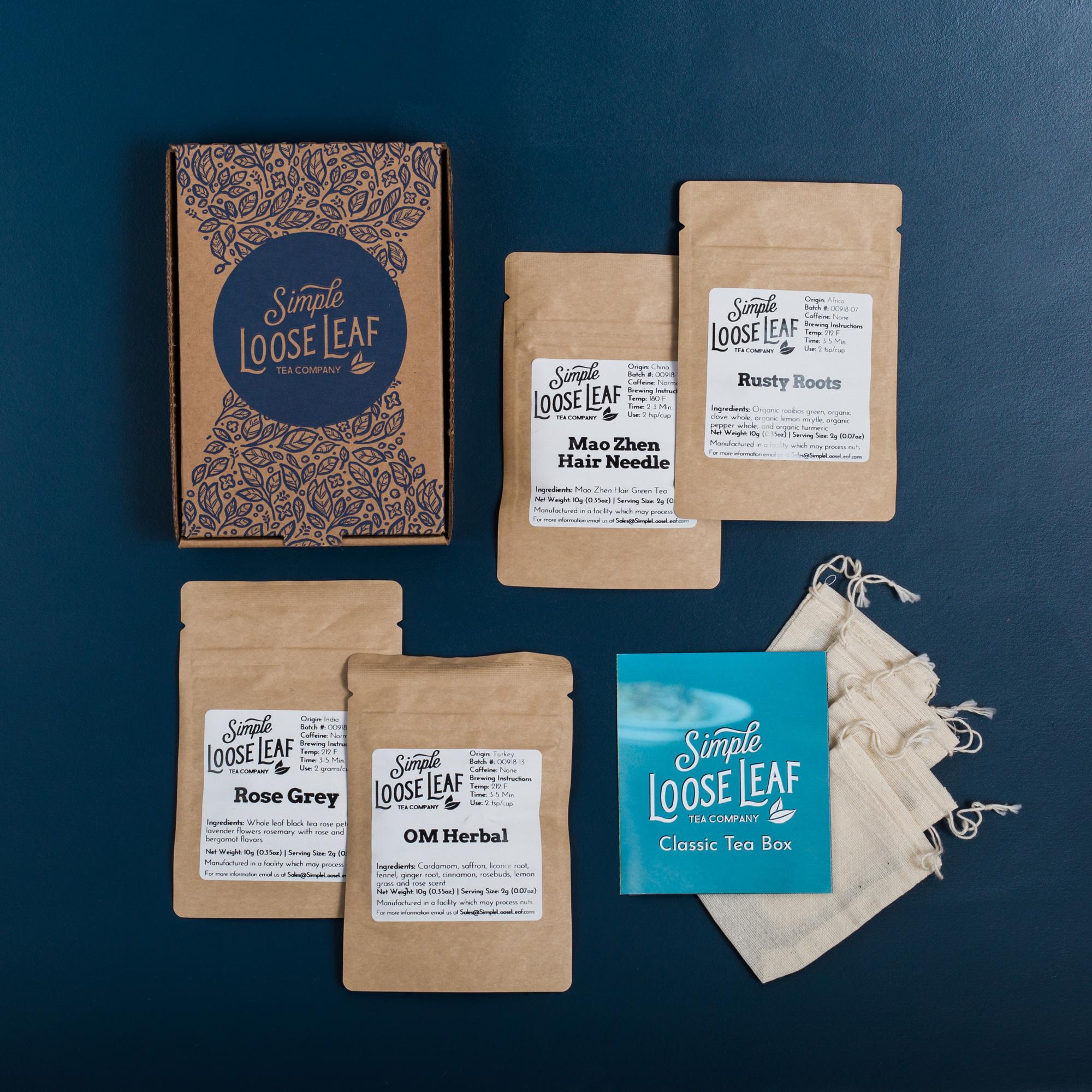 Simple Loose Leaf Tea - Hand-Packaged Loose Leaf Tea Subscription Box