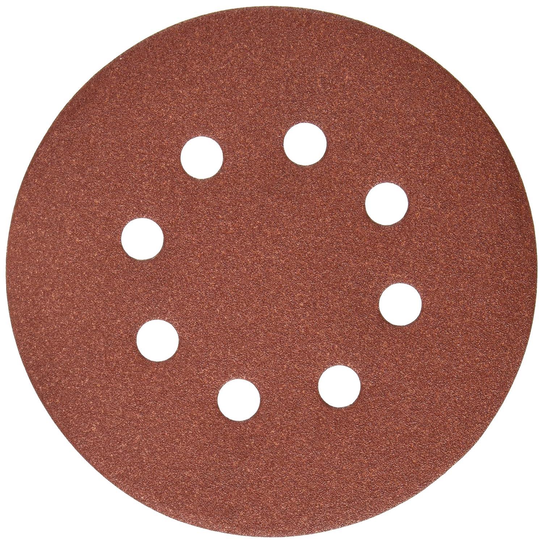 DEWALT DW4312 5-Inch 8 Hole 150 Grit Hook and Loop Random Orbit Sandpaper (25-Pack)